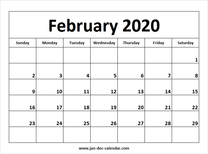 February 2020 Printable Calendar Cute.February 2020 Calendar January December Calendar September