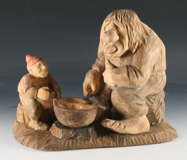 Gnome and troll carving by bjarne walle other carvings