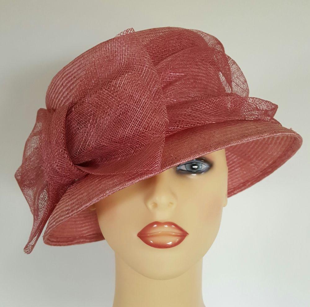 Las Wedding Hat Races Mother Bride Ascot Pink Large Bow Detail