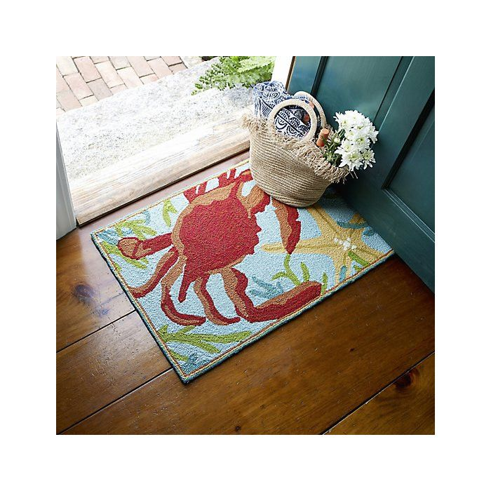Hand Hooked Red Blue Area Rug Area Rugs Blue Area Rugs Company C Rugs