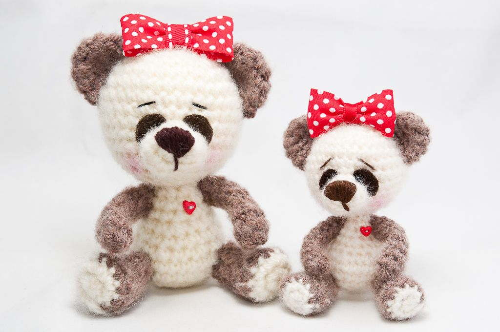 Panditas / Panda bears | Crochet amigurumis | Pinterest | Animales ...