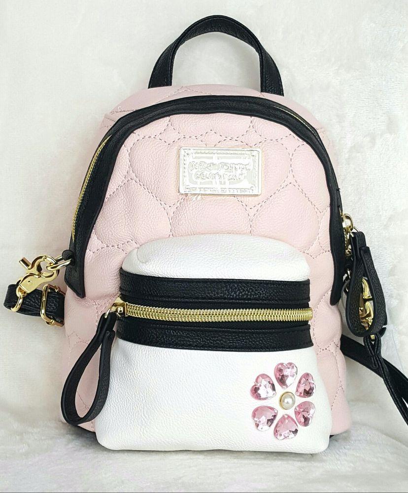 7bfea73061d Betsey Johnson Mini Convertible Crossbody Backpack - BLUSH   Spring ...