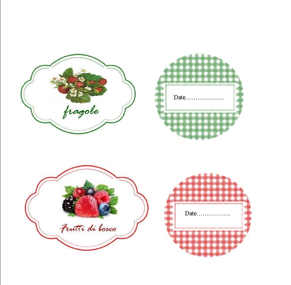 Très labels etichette per marmellate 2 | etichette | Pinterest | Etichette BQ76