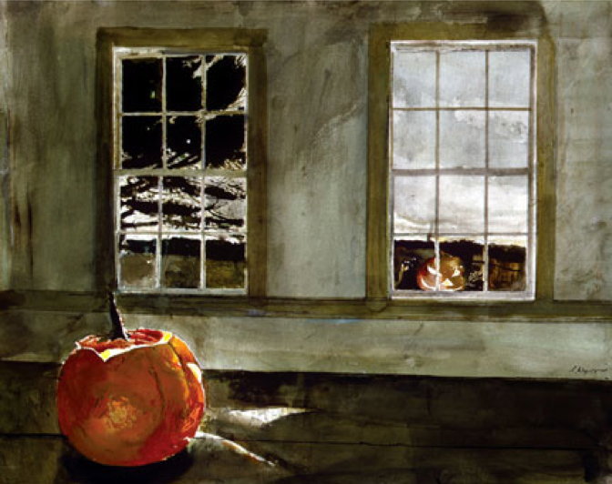 Andrew Wyeth Mischief Night 1994 Watercolor Private Collection Andrew Wyeth Wyeth Jamie Wyeth