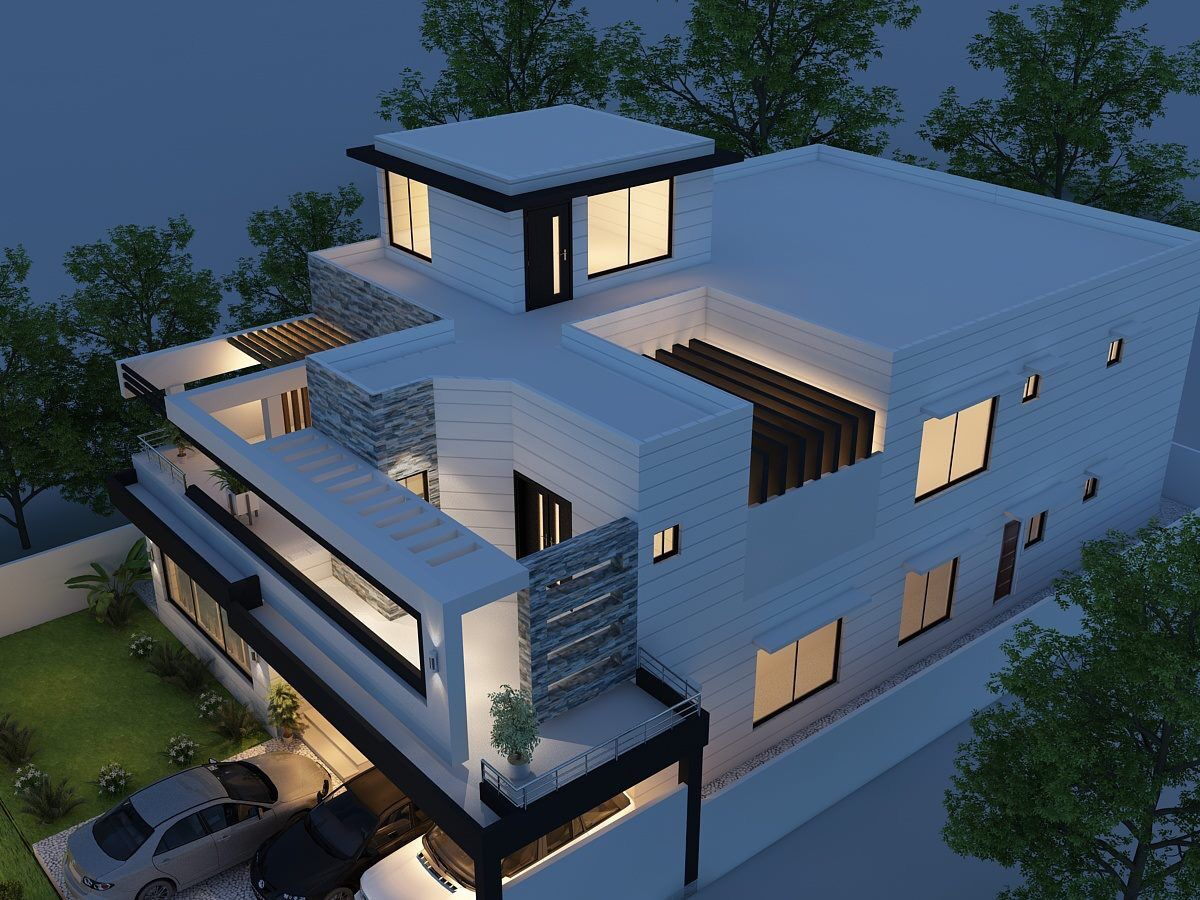 Modern House Top View 3d House Plans Exterior Design House Design