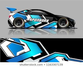 Car Graphic Vector Abstract Racing Shape With Modern Camouflage Design For Vehicle Vinyl Wrap Car Sticker Design Car Wrap Design Racing Car Design
