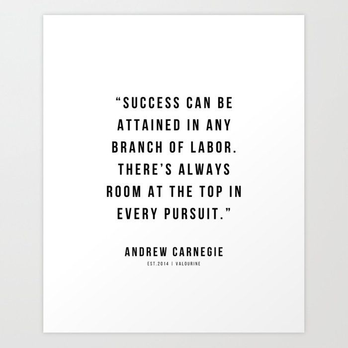 48 |Andrew Carnegie Quotes | 21010 | Motivational Inspirational Success Quote Personal Development Business Coach Art Print by Wordz