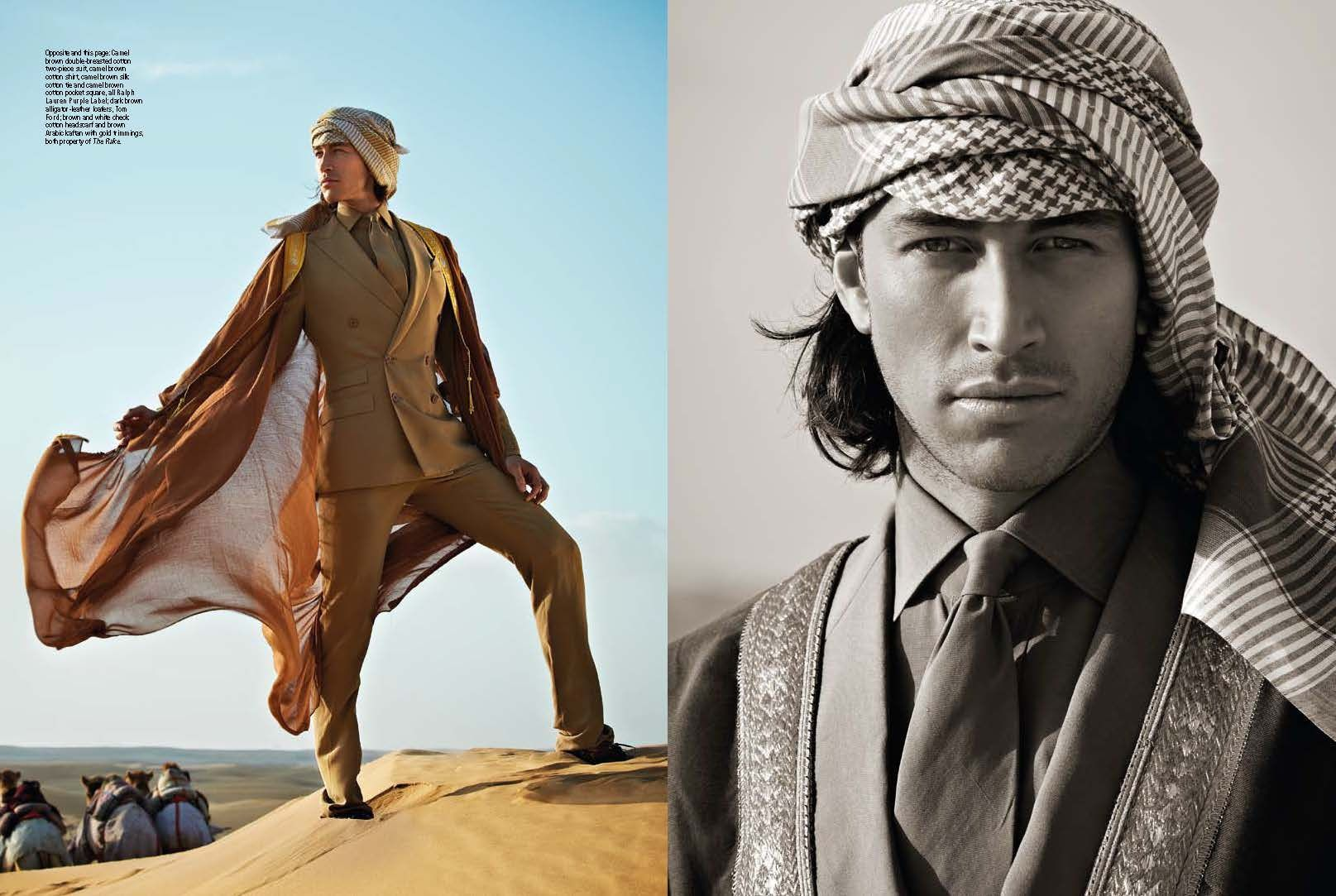 Arabian Heights Dubai Fashion Page 02 Fashion Shoot for Rake Singapore Photographer - Oliver Doran Model - Paul Frangie