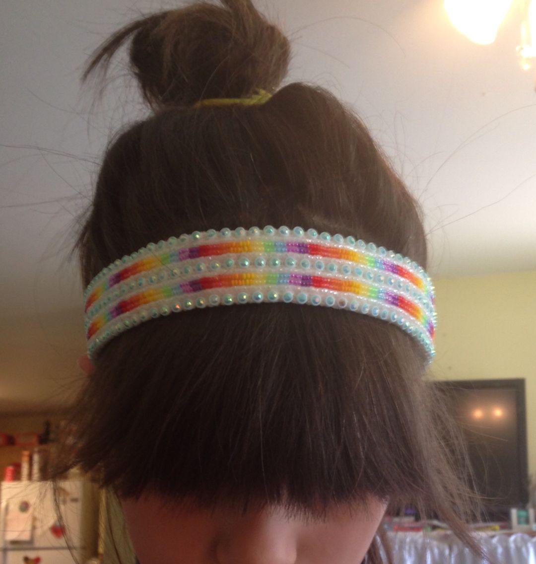 Beaded headband - part of a set