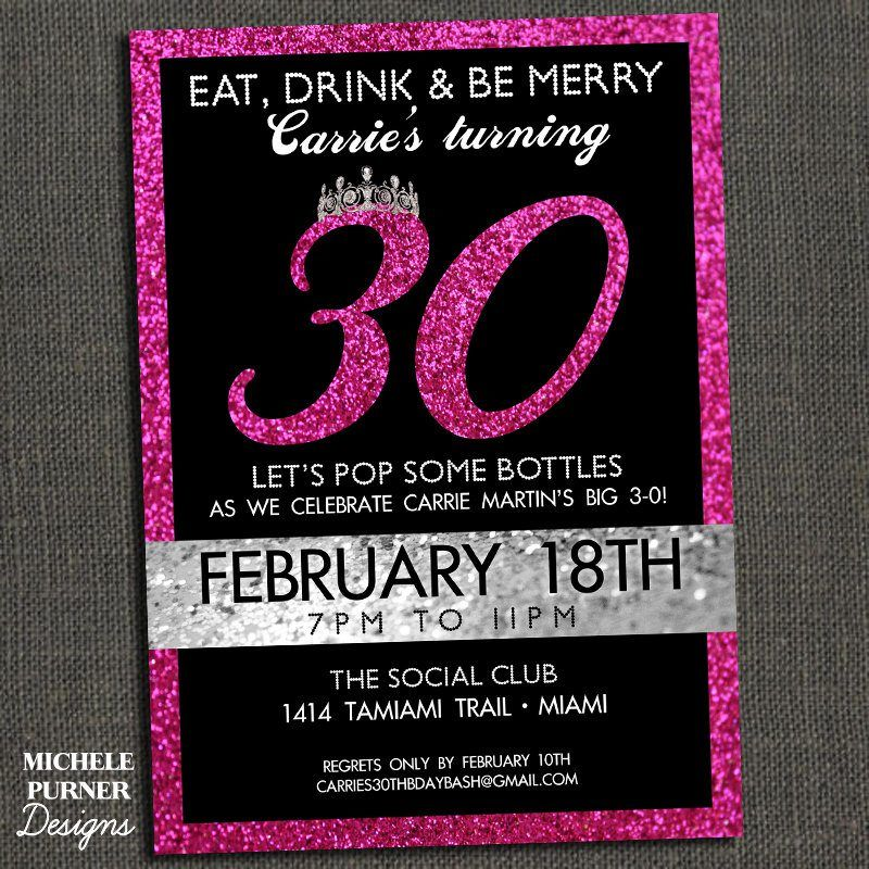 blank 30th birthday invitations printable templates free, Birthday invitations