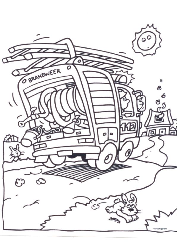 coloring page Fire brigade - Fire brigade | Coloring pages ...