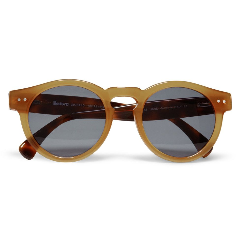 illesteva leonard round framed sunglasses 165 they look like something truman capote would have