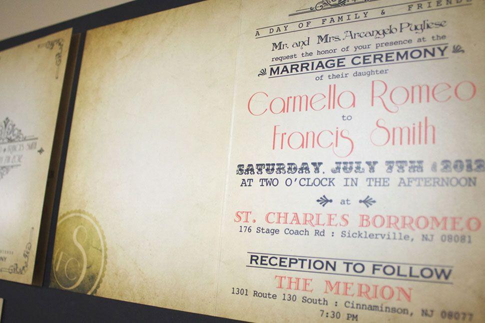 Classic Vintage Wedding Invitation | Gatsby Vintage Wedding ...