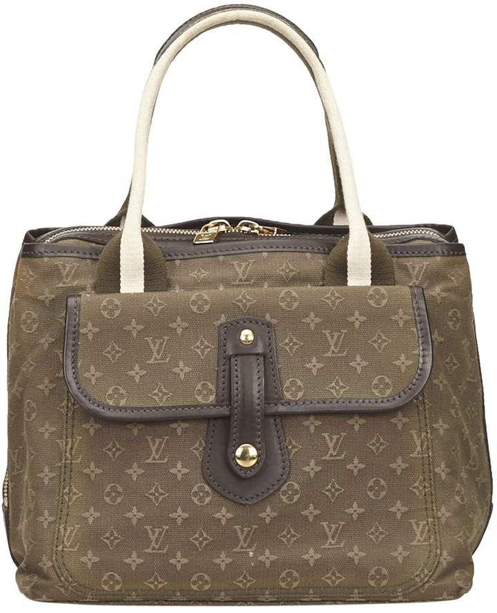 Louis Vuitton Green Cotton Handbag Louis Vuitton Handbags Louis Vuitton Bags