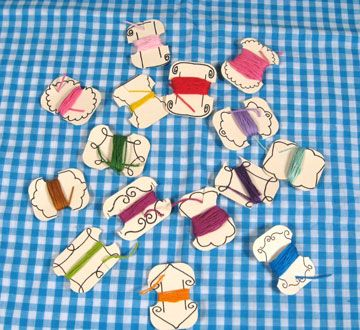 embroidery thread cards