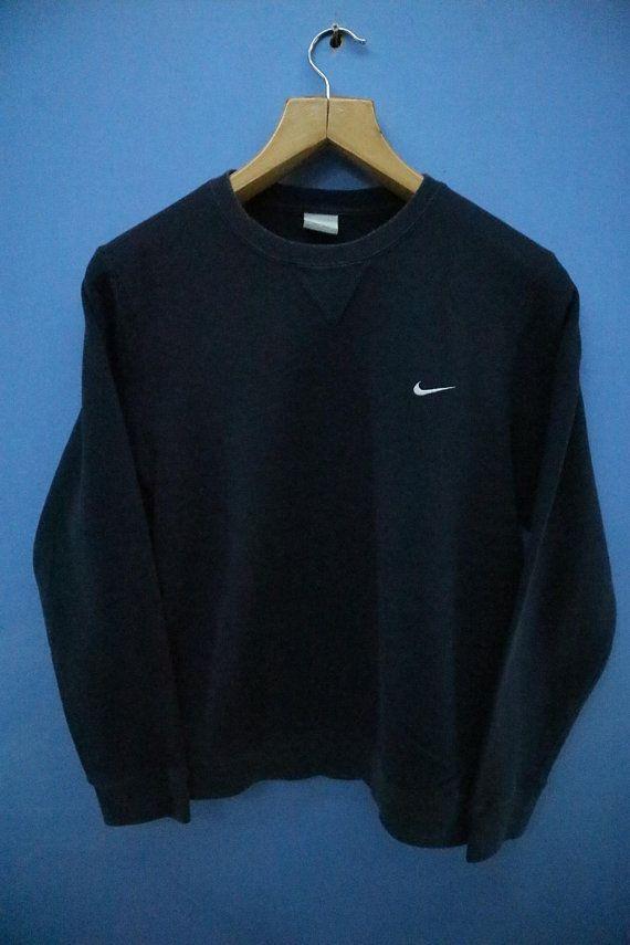 d9d0158bd001 Vintage Nike Sweatshirt Minimalist Logo Sport Sweatshirt Street Wear Hip hop  Sweater Size L