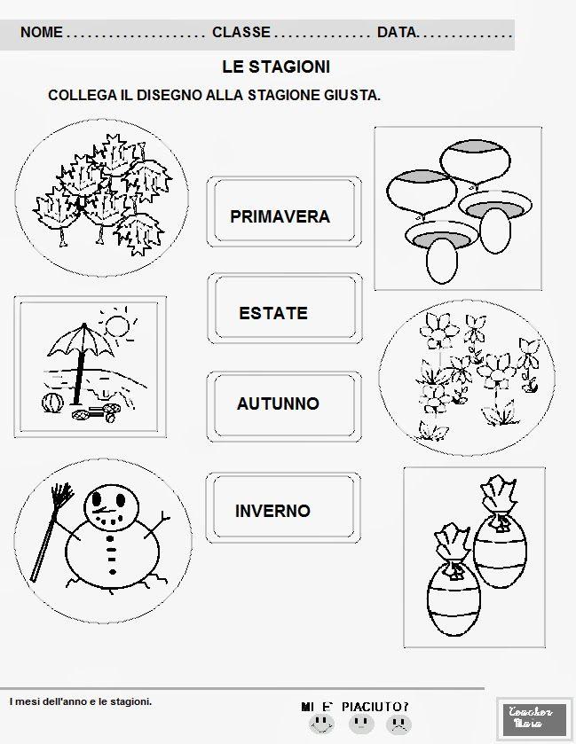 schede sulle stagioni scuola primaria - Cerca con Google | Schede ...