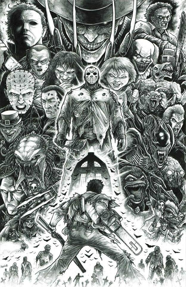 It's Halloween month! Pencil illustration by artist Zack Dolan Art of Unlikely Heroes Studios