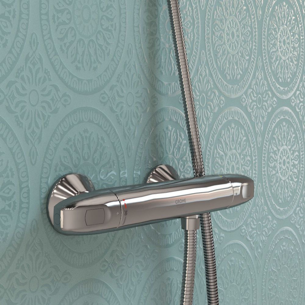 Raindrop Vintage Appeal A Unique Combination Of Both Old And New Aesthetics Our Raindrop Laminate S Plush Shower Panels Laminate Wall Panels Wall Paneling