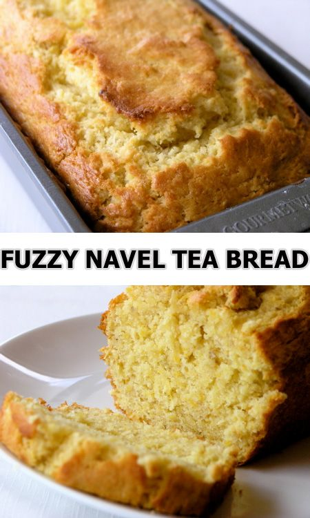 Fuzzy Naval Tea Bread My favorite smoothie ingredients - banana, peach, orange juice - made into a quick bread!