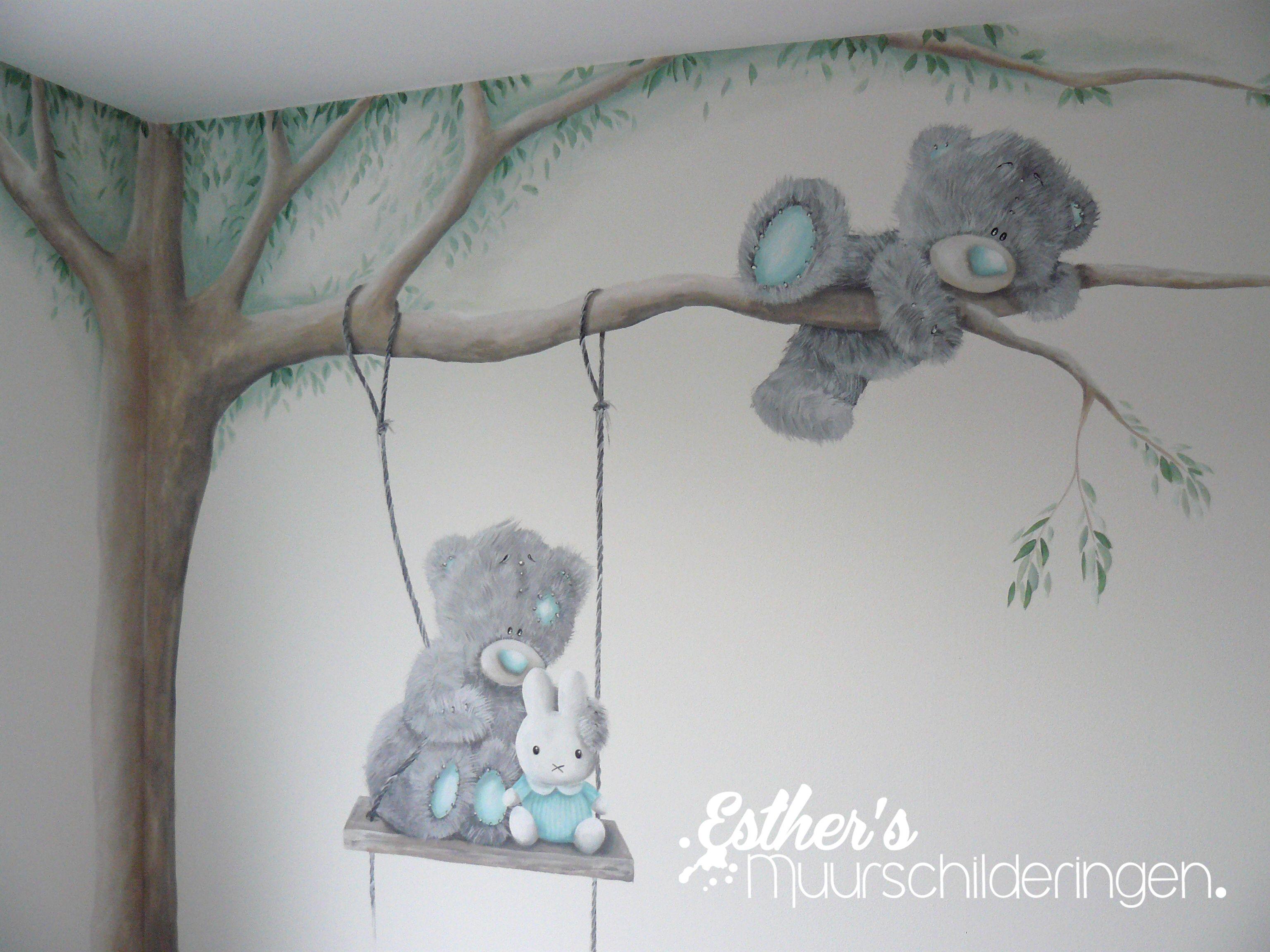 Schommel In Kinderkamer : Muurschildering me to you beer en nijntje op schommel leuk voor