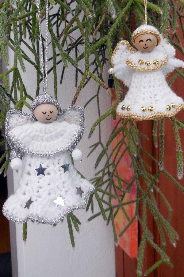 Kostenlose Häkelanleitung für Weihnachtsengelchen | # Crochet ...