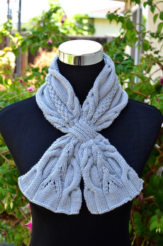 Knitting Pattern Only - Urban Cables Scarf | Chal, Deberes y Patrones