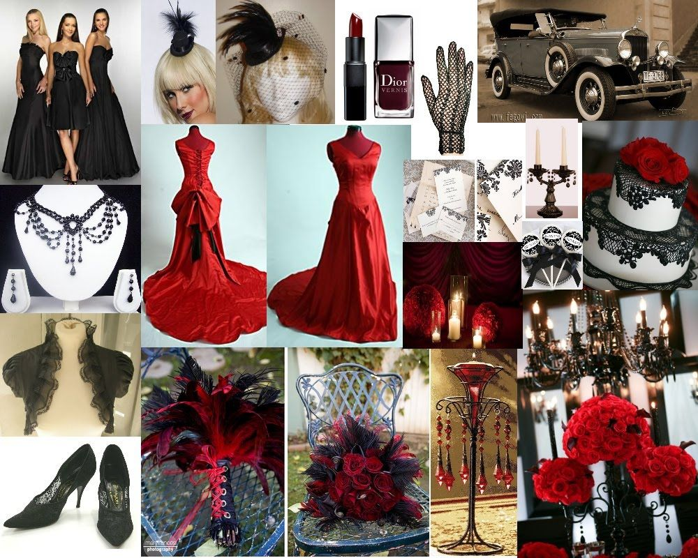 Moulin Rouge wedding theme  Like A Fairytale  Red