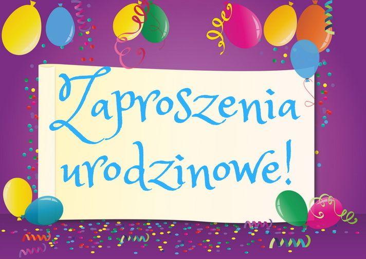 Pobierz Bezpłatne Zaproszenia Urodzinowe Dla Dzieci Zaproszenia Na