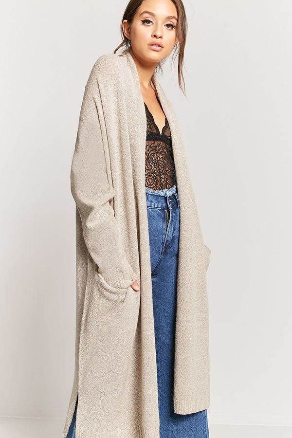 LOVE 21 Oversized Longline Cardigan | Fall looks | Pinterest ...