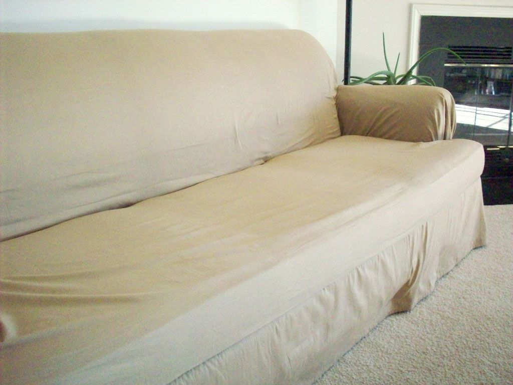 Diy Couch Cover From Bedsheets Use Pillowcases For The Cushions Just May Have To Try This Diy Furniture Covers Diy Couch Cover Diy Sofa Cover