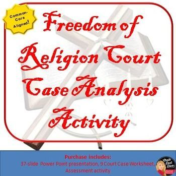 Freedom Of Religion Court Case Analysis Cooperative Activity