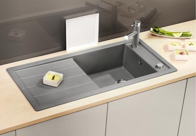Blanco Mevit XL - grau, Armatur seitlich Küche Pinterest - küche zu verschenken berlin