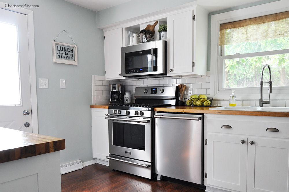 How to Alter Kitchen Cabinets Kitchens, Industrial farmhouse - küchen mit granit arbeitsplatten