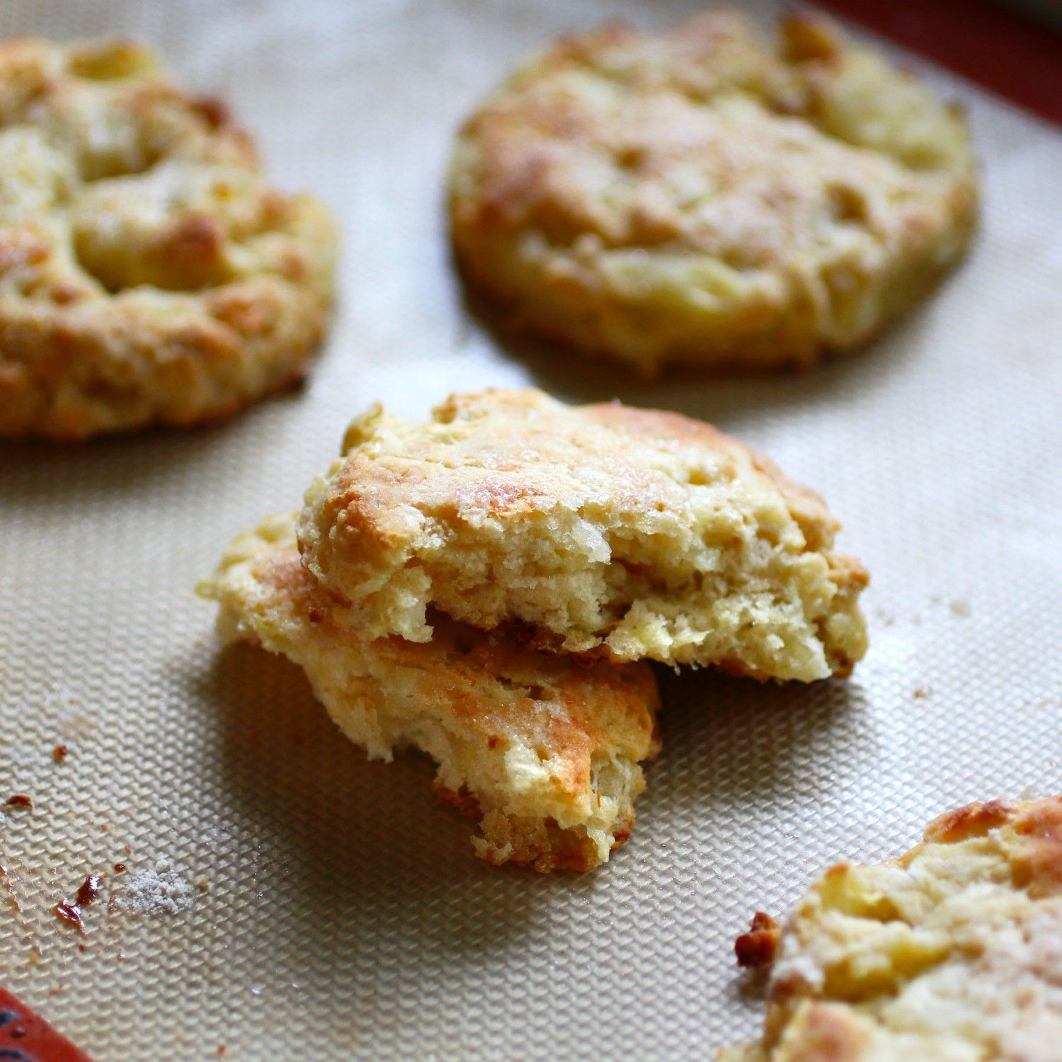 Apple And Onion Scones With Sharp Cheddar