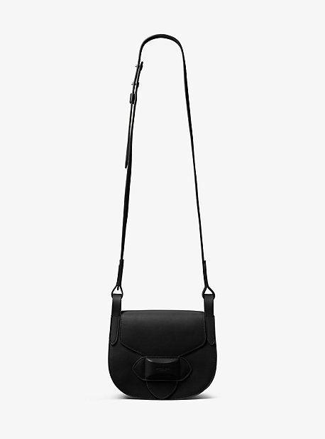 Michael Kors Daria Small French Calf Leather Saddlebag