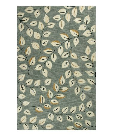 Anise 2405 Grey Leaves Rug From The Playful Rugs Collection Ii At Modern Area
