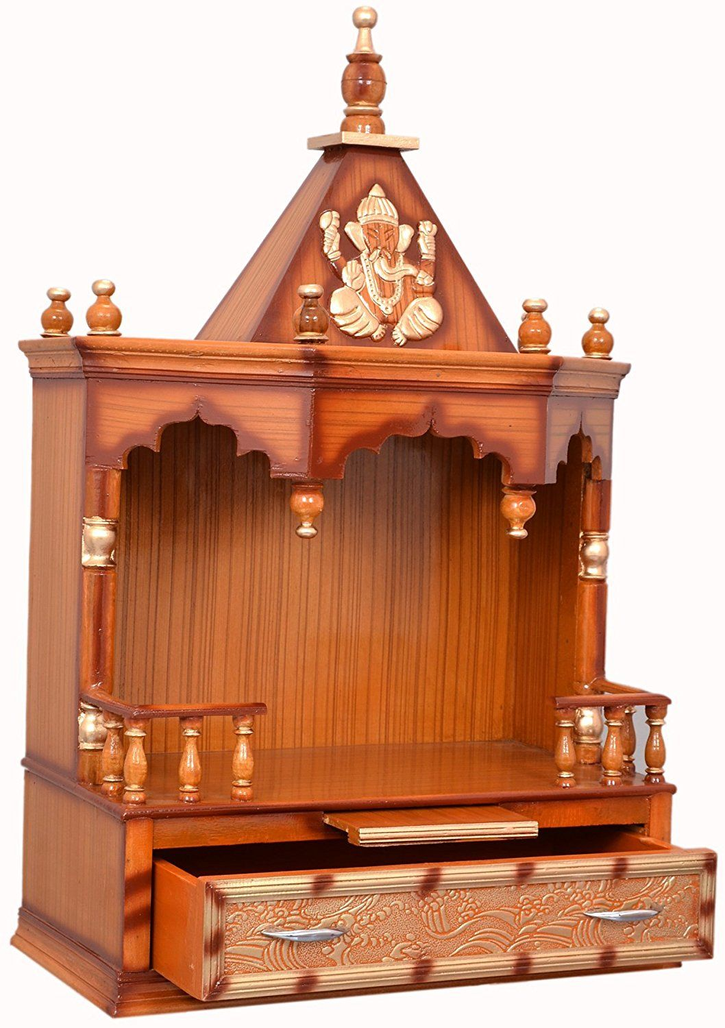 Buy Vishwakarma Furniture Wooden Home Temple Online at Low