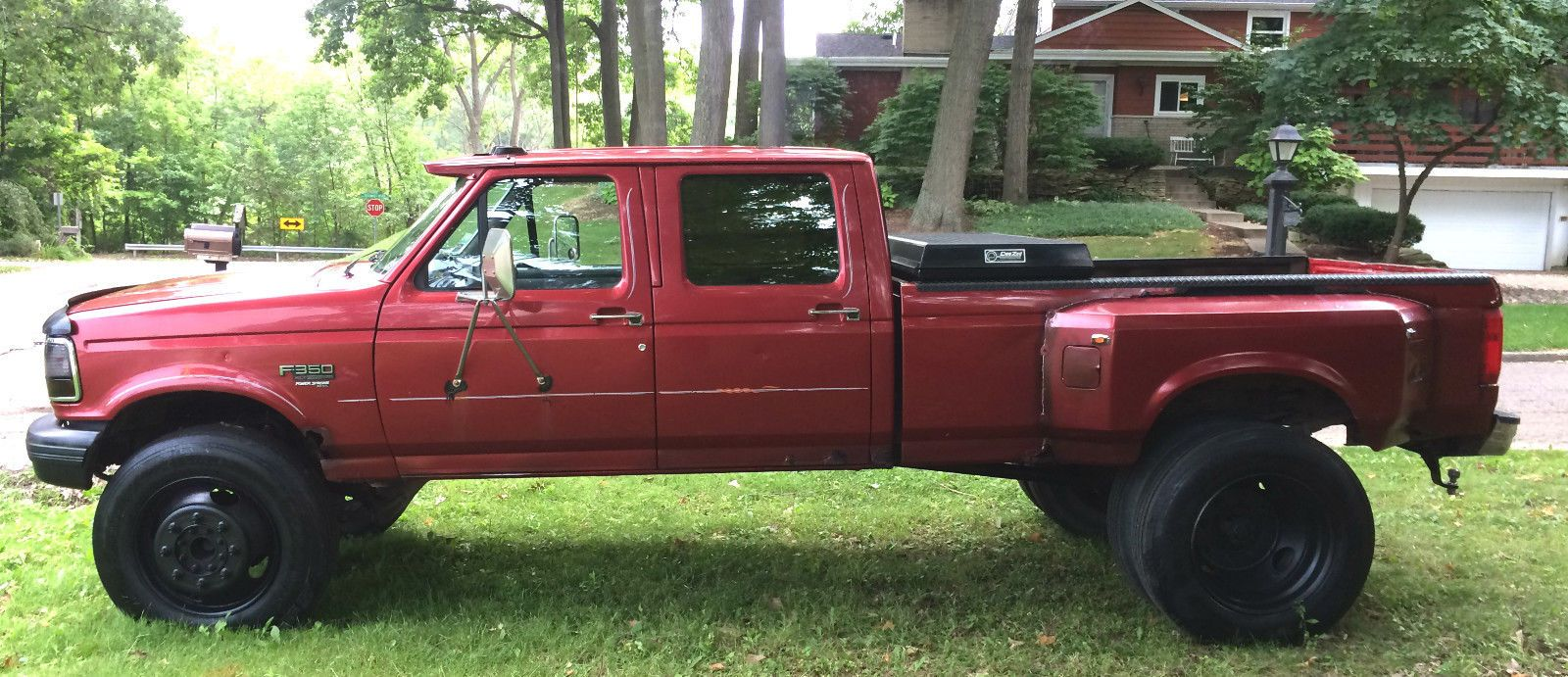 1997 Ford F 350 Xlt Crew Cab Pickup 4 Door Jacked Up Trucks Ford 4x4 Crew Cab