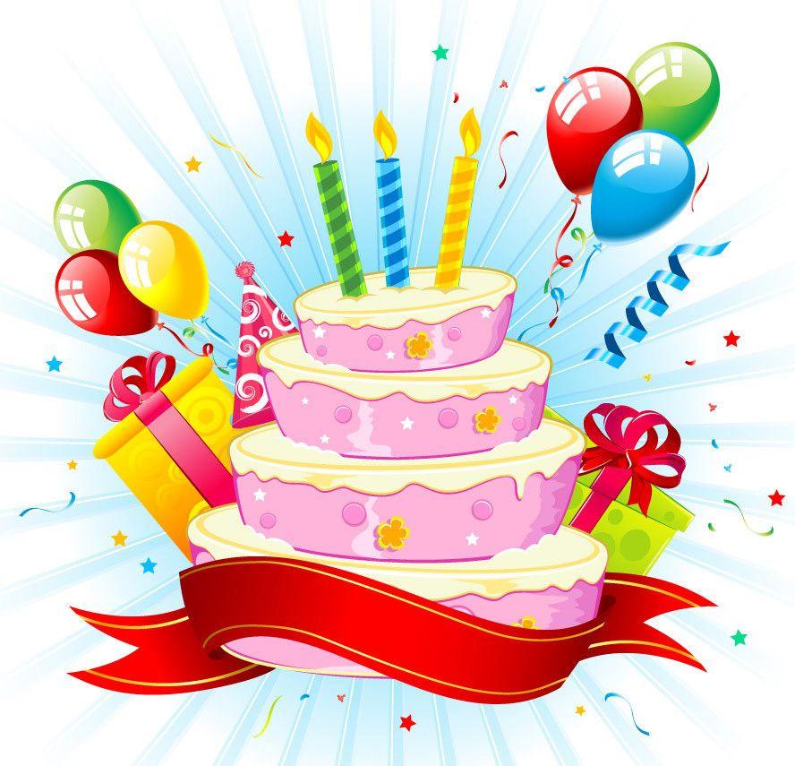 Картинки по запросу открытка с тортом на день рождения ...