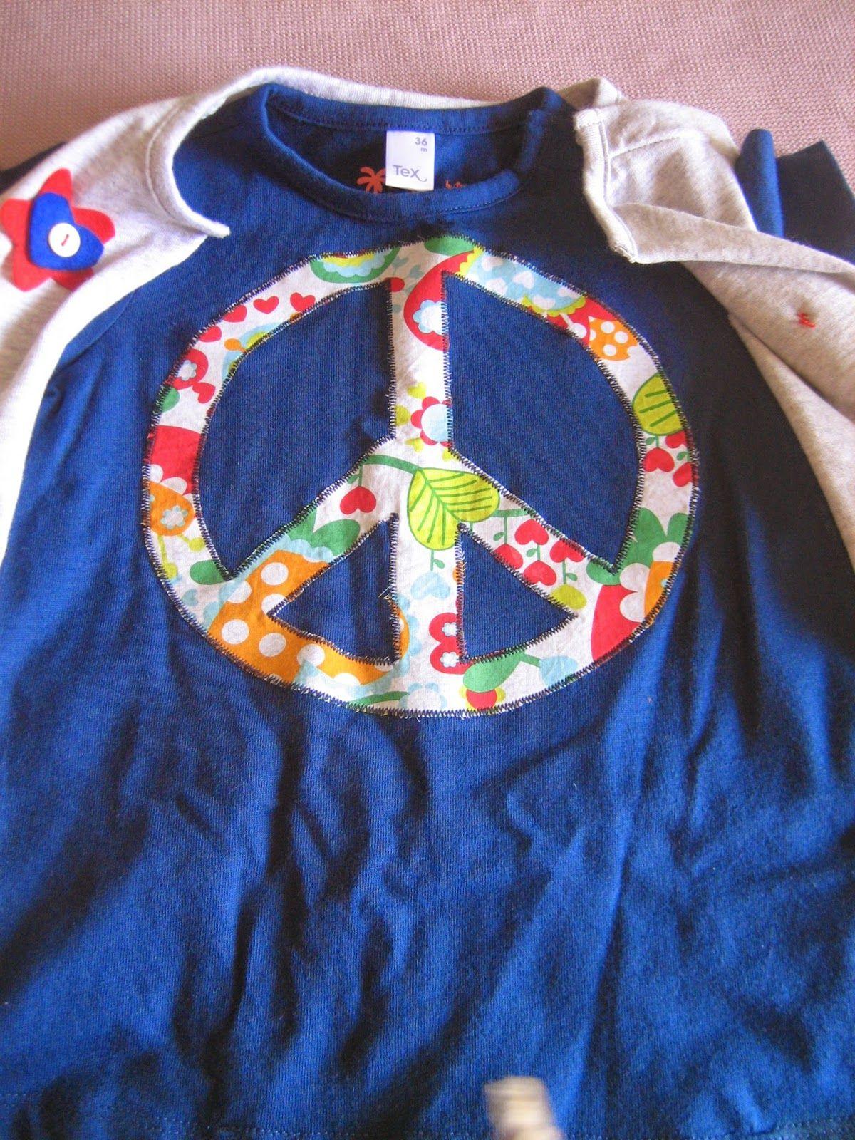 Chimcatapum Disfraz De Hippie Camisetas Decoradas Pinterest  ~ Ideas Para Decorar Camisetas Infantiles
