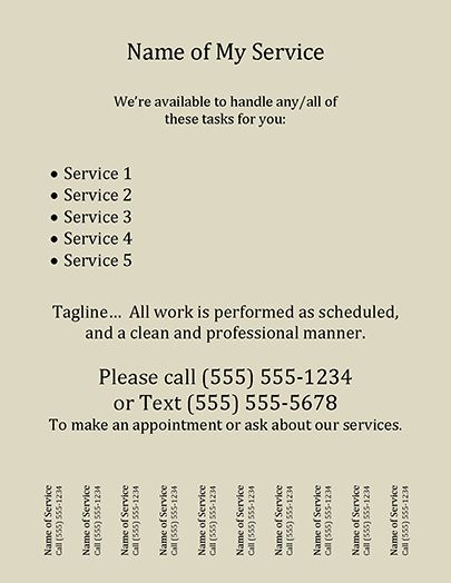 Tear Off Flyer Template Flyer template, Template and Sewing rooms - Sample Business Partnership Agreement