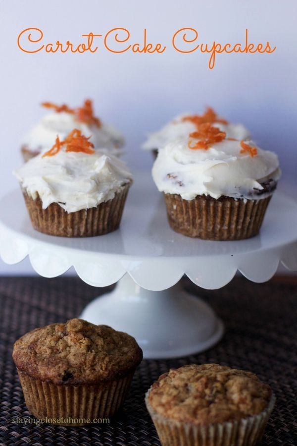 carrot cake cupcakes | recipe | recipes for, cupcake recipes and