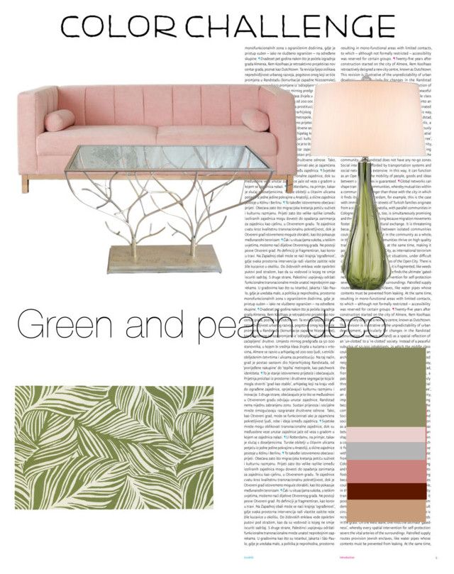 """""""Green and peach deco"""" by nerdypanda777 ❤ liked on Polyvore featuring interior, interiors, interior design, home, home decor, interior decorating, Oris, Oriental Weavers, Zephyr and colorchallenge"""