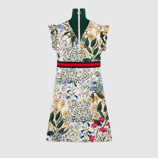 ea0e0cb066189 Gucci New Flora print jersey dress | Women's fashion | Gucci dress ...