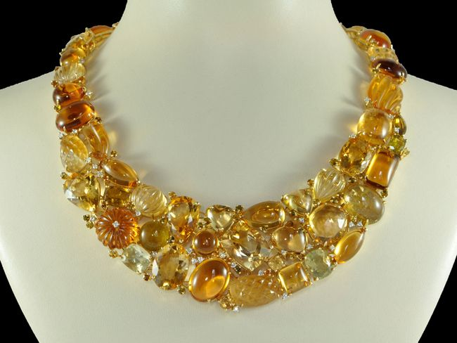 Yellow Citrine Necklace Best Necklace 2018