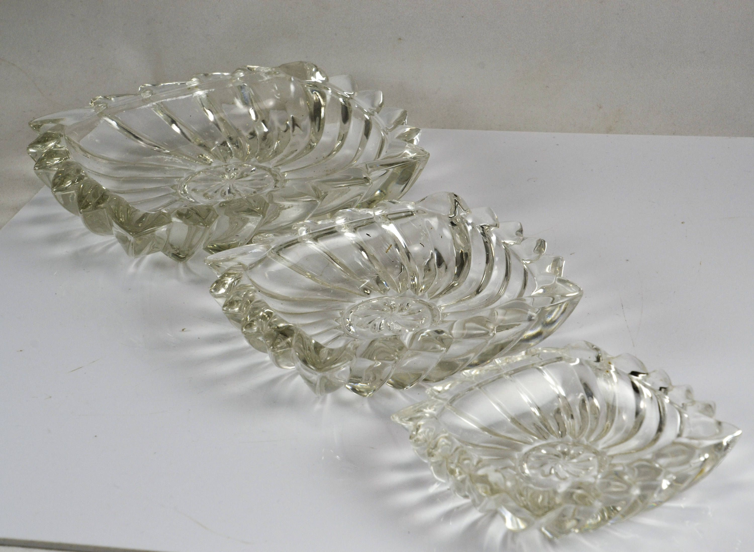 """Vintage Clear Glass Small 3 5//8/"""" Square Personal Ashtray"""