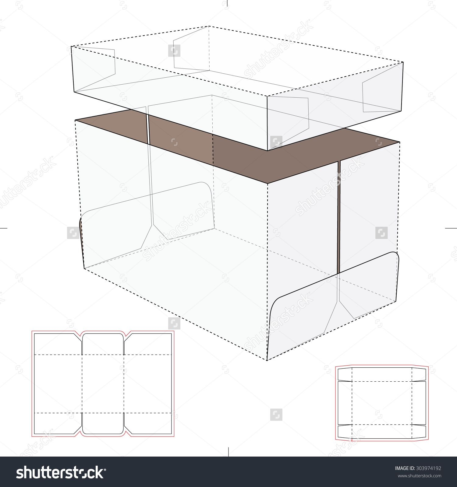 Storage box with lid and tray and blueprint template stock vector storage box with lid and tray and blueprint template stock vector illustration malvernweather Image collections