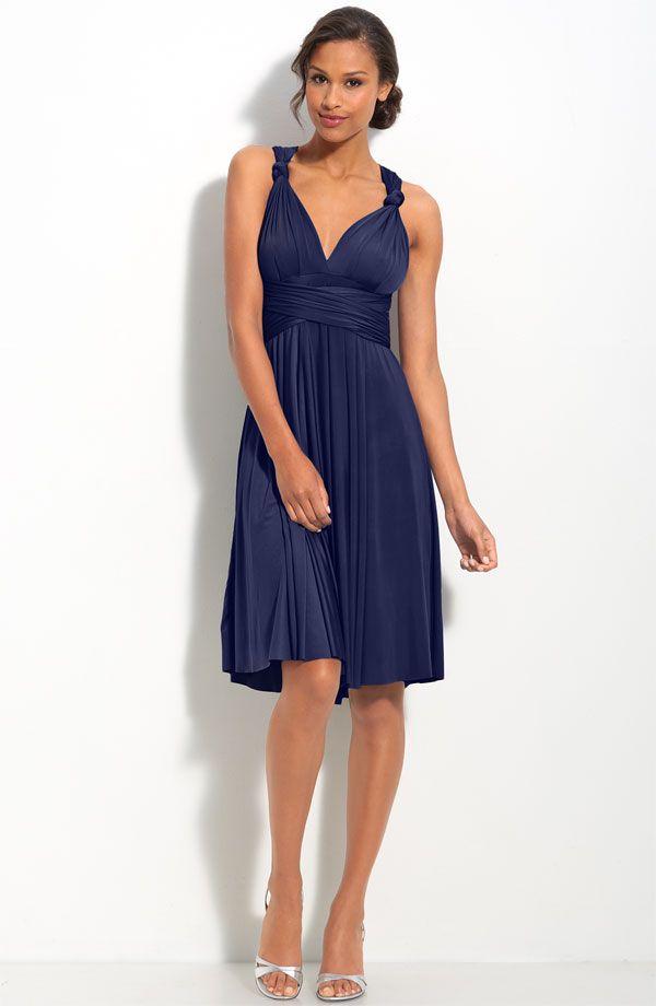 Navy Knee Length Dress