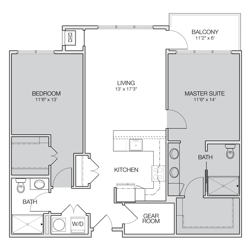 32 Beautiful Floor Plan 2 Bedroom Apartment Design
